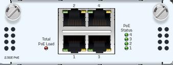 4 port 2.5GbE copper PoE FleXi Port module (for XGS 2xxx/3xxx/4xxx models only)