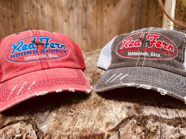 RED FERN MESH BACK HAT