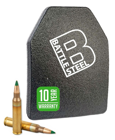 Battle Steel Level 3+ Special Threat Armor Plates M855 Green Tip Protection