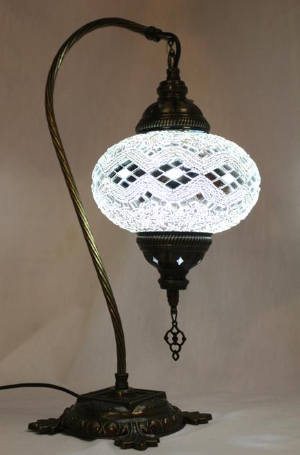 Mosaic Swan Table Lamp White