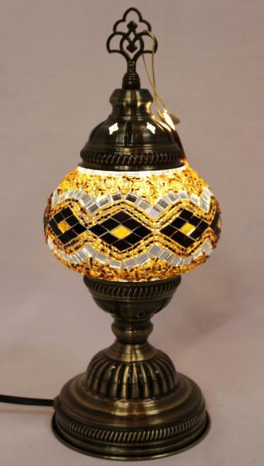 Mosaic Table Lamp Gold-Brown