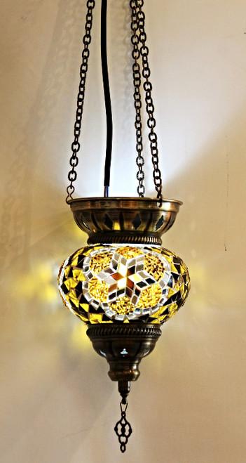 Mosaic Lamp Triple Chain