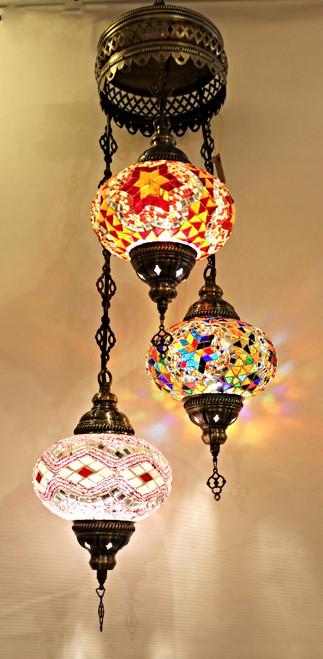Mosaic Ceiling Lamp 3 Lg Globes