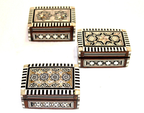 Egyptian Mother of Pearl Box/04