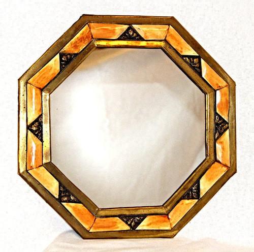 """Moroccan Camel Bone Mirror 11"""" /02"""