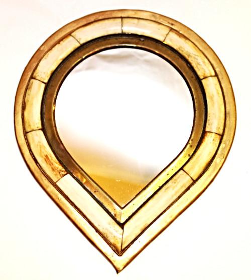 """Moroccan Camel Bone Mirror 8.5"""" /03"""