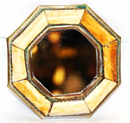 """Moroccan Camel Bone Mirror 3.75"""" /07"""