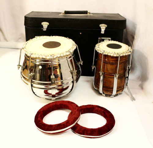 Tabla Set Indian Pair Drum Tunable with Hard Case All Included Professional Quality