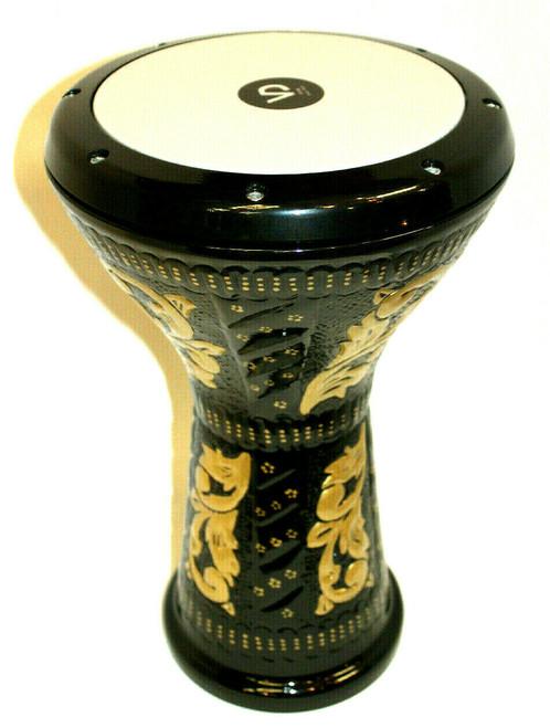 Embossed Design Doumbek Drum Black and Gold