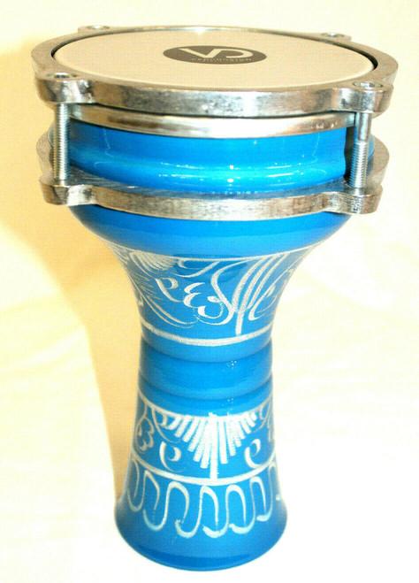 Aliminum Doumbek Small Size Blue