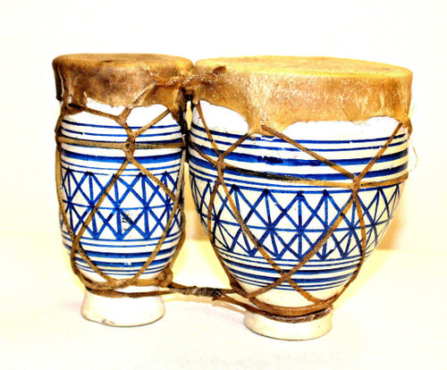 Moroccan Authentic Handmade Bongos 6""