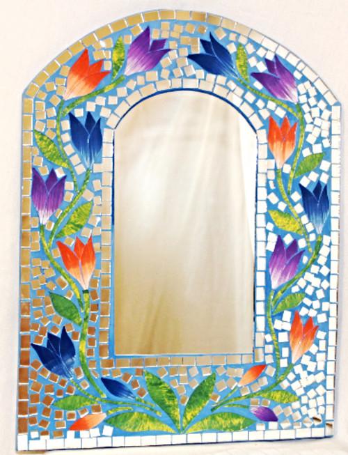 Wall Decor Mirror, Masaic Wall Mirror, Nice Gift, Home Decor, WALL mirror, decorative mirror, mirror wall, Blue mirror, mirror blue, mosaic mirror, painted mirror, beautiful mirror, wall mirror, wall mirror blue