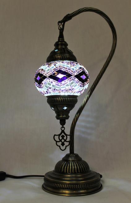 Mosaic Small Swan Table Lamp Waves