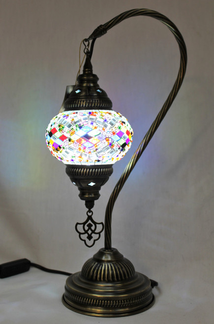 Mosaic Small Swan Table Lamp Multi-Color