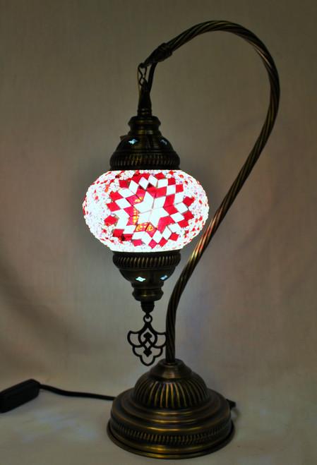 Mosaic Small Swan Table Lamp Pink