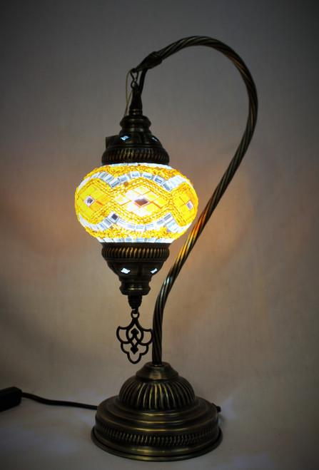 Mosaic Small Swan Table Lamp Orange