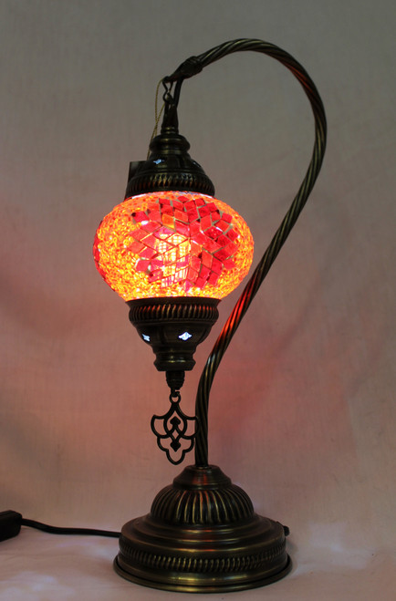 Mosaic Small Swan Table Lamp Red