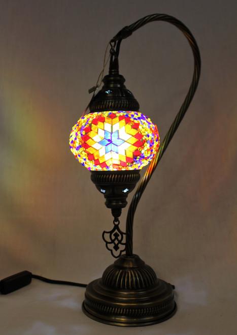 Mosaic Small Swan Table Lamp Multi-Color Star