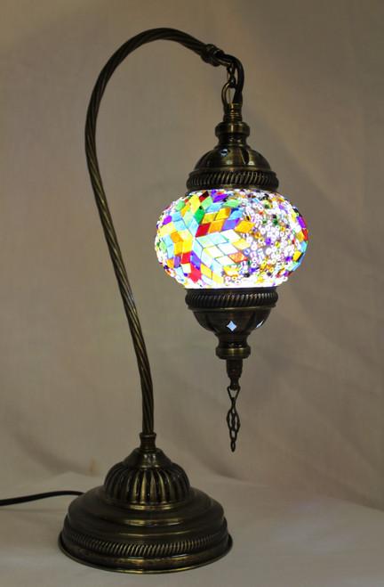 Mosaic Small Swan Table Lamp MultiColor