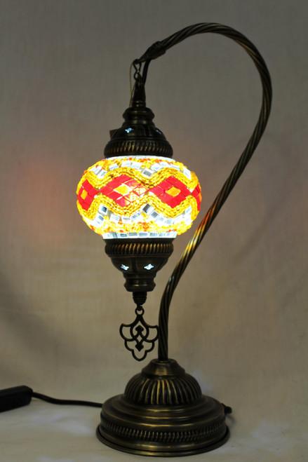 Mosaic Small Swan Table Lamp OrangeRed