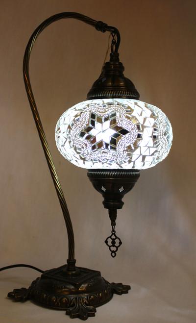 Mosaic Swan Table Lamp White Star