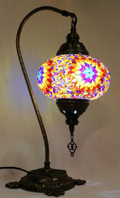 Mosaic Swan Table Lamp Multi-Color Star Classic