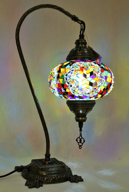 Mosaic Swan Table Lamp Multi-Color Star