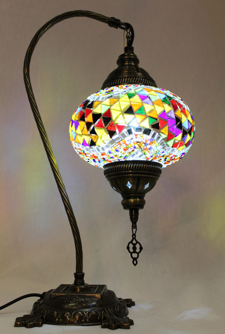 Mosaic Swan Table Lamp Multi-Color Wave