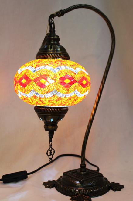 Mosaic Swan Table Lamp Orange-Red