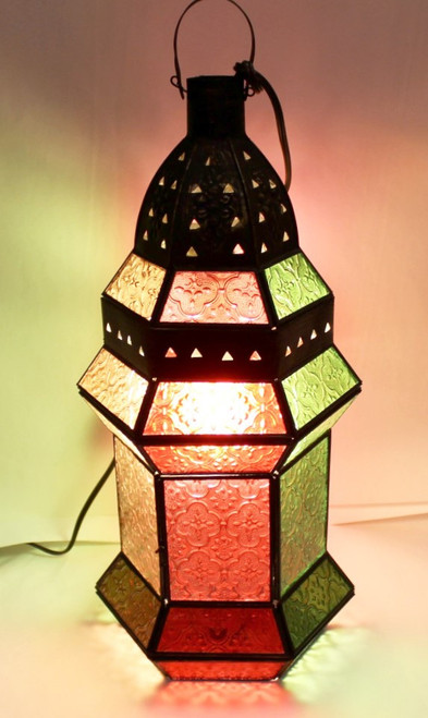 Mood Lamp colorful glass, stained glass lamp, patio decor, night light, light fixture colorful, mood lamp, desk lamp colorful, moroccan lamp, moroccan light-fixture, moroccan light fixture, home decor, home decor lamp,
