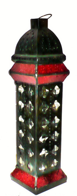 Tower Lamp, night light, floor Lamp Stained Glass, High-End Lighting, Lamp with metal design, desk lamp tall, red glass lamp, floor lamp, desk lamp, mood light, metal lamp, metal lamp with design, red lamp,