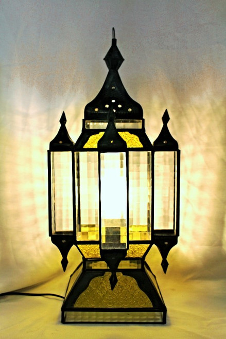 Desk Lamp Stained Glass, High-End Lighting, Yellow Glass Lamp, Indonesian Lamp, desk lamp yellow, mood light, beautiful light fixture, desk lamp high-end, sale, lamp on sale