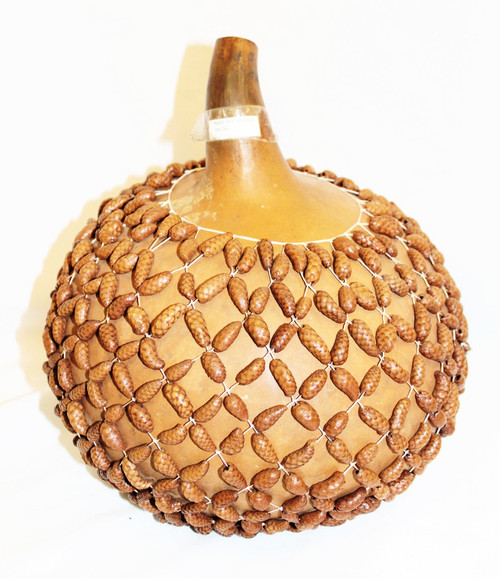 Gourd Shaker with Tiny Pinecones.