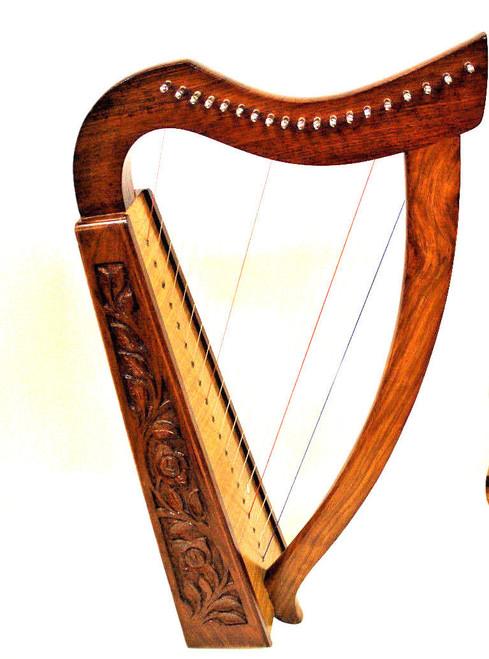 "Rosewood Celtic Harp 19 Strings 30"""