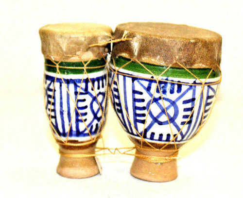 Moroccan Clay Bongos Miniature