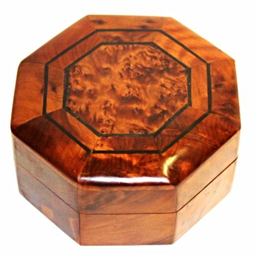 Moroccan Cedar Box Octagon Shape