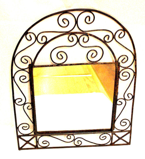 Wrought Iron Mirror Arched