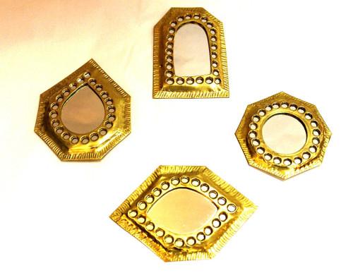 Small Moroccan Brass Mirror