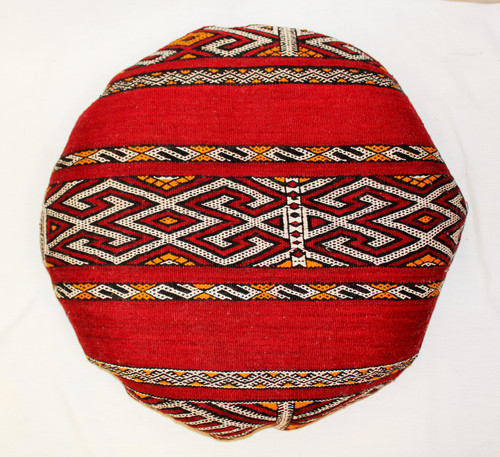 Moroccan Coushion Covered with Hand-woven Rug.