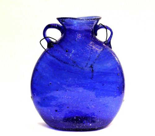 Blue Glass Vase XLg
