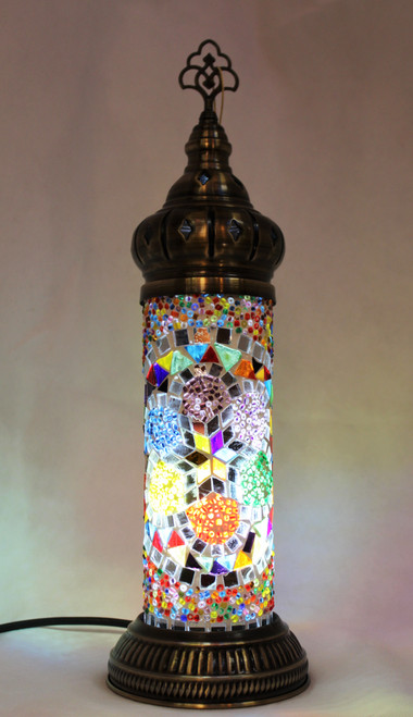 mosaic lamp, table lamp, turkish lamp, cylinder lamp, mood light, mood lamp, side lamp, desk lamp, colorful lamp, Tiffany, Tiffany lamp,  handmade, authentic, mosaic,