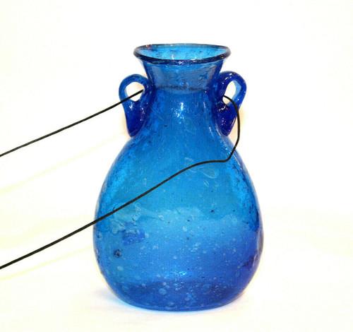 Aqua Glass Vase Lg