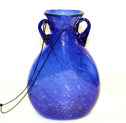 Blue Glass Vase Lg