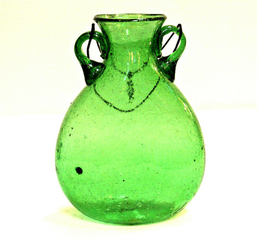 Green Glass Vase Lg
