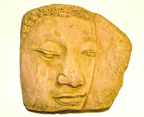 Buddha's face.