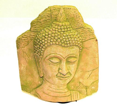 buddha, buddha plaque, bas-relief, thailand buddha, thai buddha, buddha clay, clay bas-relief, home decor, thai home decor, thai statue, thai decorations, thai decoration