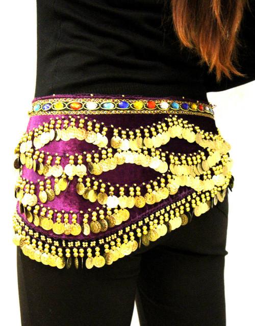 belly dancing, belly dancing hip scarf, hip scarf, coin belt, belly dancing clothes, belly dancing belt, hip wrap, belly dancing hip wrap, coin wrap, coin wrap for belly dancing, purple,