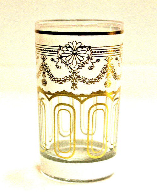 Moroccan Authentic Tea Glass White