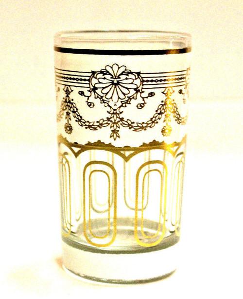 Moroccan Authentic Tea Glass White