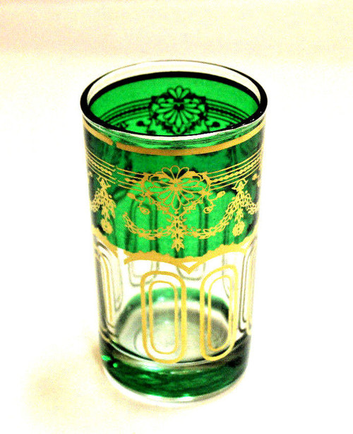 Moroccan Authentic Tea Glass Green